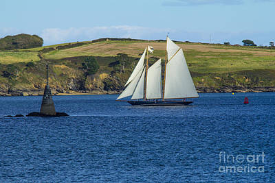 Photograph - Blue Schooner 06 by Brian Roscorla