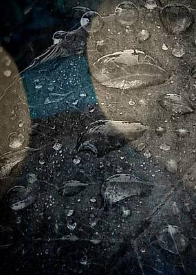 Photograph - Wet Blue Shadow - Waterdrops Series by Patricia Strand