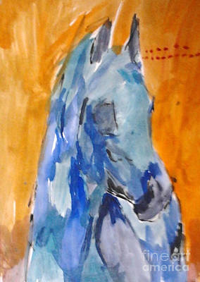 Painting - Blue Shagya Arabian by Patries Van Dokkum