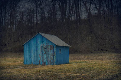 Photograph - Blue Shed St Charles Mo Dsc00399 by Greg Kluempers