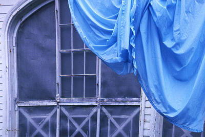 Photograph - Blue Sheet On A Country Porch by Wayne King