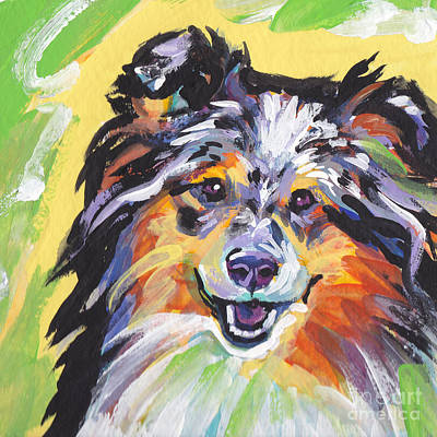 Sheltie Painting - Blue Sheltie by Lea S