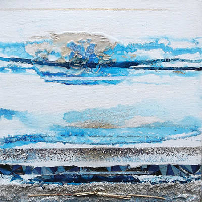 Mixed Media - Blue Shore Rhythms And Textures IIi by Mike   Bell