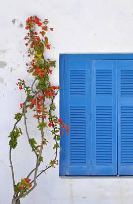 Photograph - Blue Shuttered by Kathy Schumann