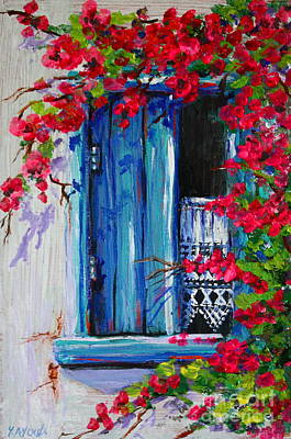 Painting - Blue Shutters 02 by Yvonne Ayoub