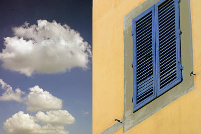 Medeival Photograph - Blue Shutters by Al Hurley