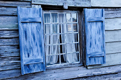 Photograph - Blue Shutters by Bonnie Fink