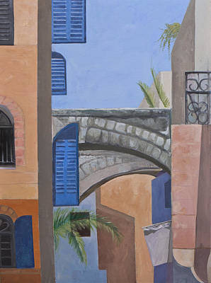 Painting - Blue Shutters by Jillian Goldberg