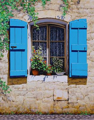 Tropez Painting - Blue Shutters by Michael Swanson