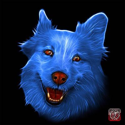 Painting - Blue Siberian Husky Mix Dog Pop Art - 5060 Bb by James Ahn