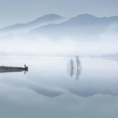 Fishing Rods Photograph - Blue Silence by Jose Beut
