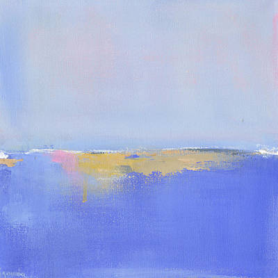 Abstract Painting - Blue Silences by Jacquie Gouveia