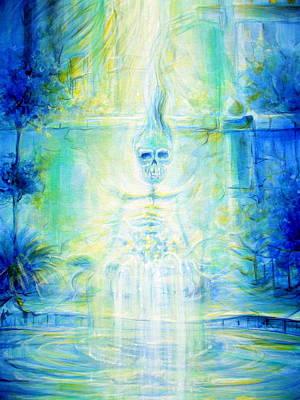 Blue Skeleton Meditation Original by Heather Calderon