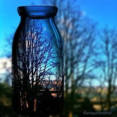 Blue Skies Bottled Winter In Oregon Art Print