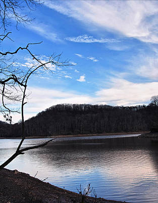 Digital Art - Blue Skies Over Beech Fork Lake by Chris Flees