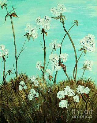 Texas Painting - Blue Skies Over Cotton by Eloise Schneider