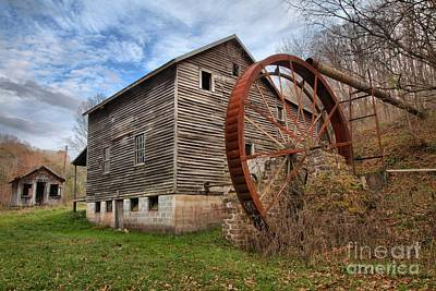 Photograph - Blue Skies Over Mcclung's Mill by Adam Jewell
