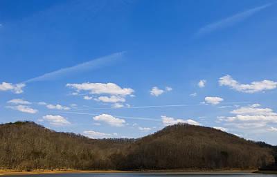 Digital Art - Blue Skies Over The Ohio River by Chris Flees