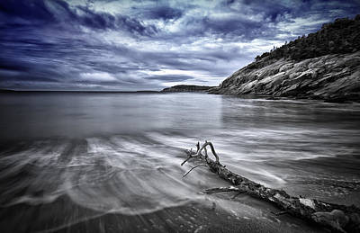 Maine Beach Photograph - Blue Sky ... High Tide by Chad Tracy
