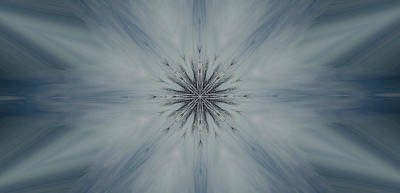 Insecurity Digital Art - Blue Sky Abstract by Erica  Darknell
