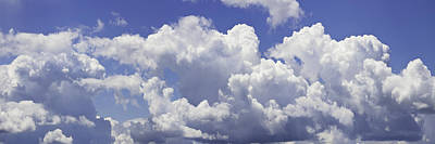 Photograph - Blue Sky And Building Storm Clouds Panorama Fine Art Print by Keith Webber Jr