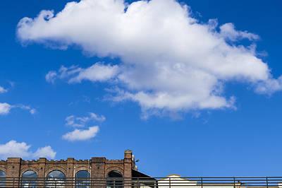 Blue Sky Bricks Art Print by Frank Winters