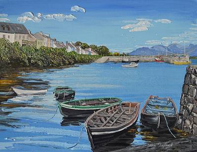 Painting - Blue Sky Day Roundstone Connemara by Diana Shephard