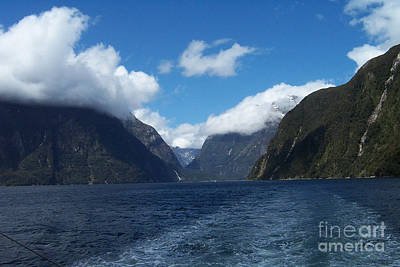 Photograph - Blue Sky Fjord by John Potts