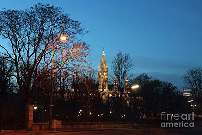 Photograph - Blue Sky Over Rathaus by John Rizzuto