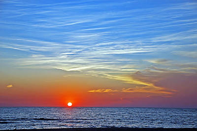 Photograph - Blue Sky Sunset by Aimee L Maher Photography and Art Visit ALMGallerydotcom