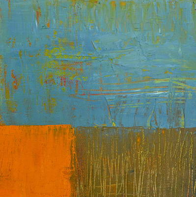 Painting - Blue Sky With Orange And Brown by Michelle Calkins