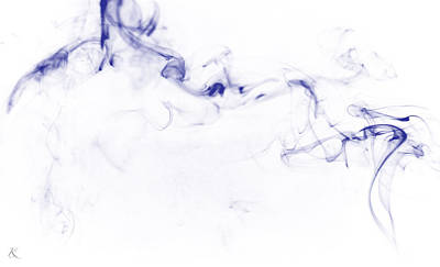 Photograph - Blue Smoke by Kelly Smith