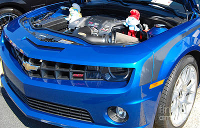 Photograph - Blue Smurf Camaro by Mark Spearman