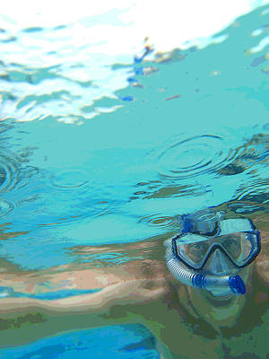 Blue Snorkel Art Print