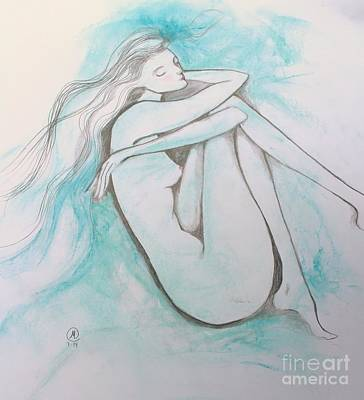 Drawing - Blue Solitude by Marat Essex