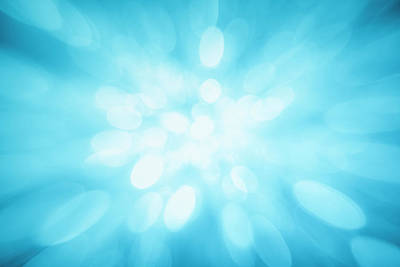 Blue Background Photograph - Blue Sparkles by Krystiannawrocki