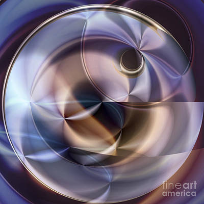 Other World Digital Art - Blue Sphere by Ursula Freer