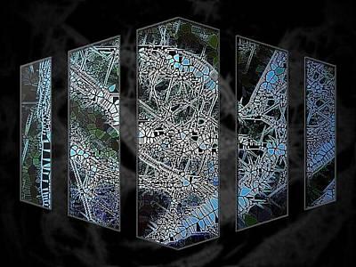 Etc. Digital Art - Blue Stain by HollyWood Creation By linda zanini