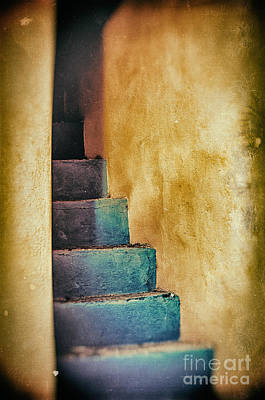 Photograph - Blue Stairs - Yellow Wall    by Silvia Ganora