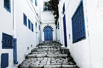 Photograph - Blue Stairway by Rick Bragan