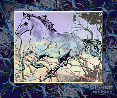 Painting - Blue Stallion by Ursula Freer