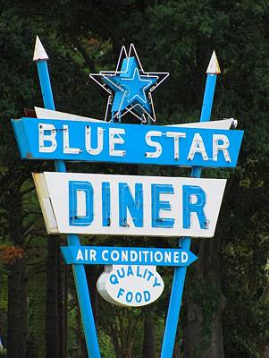 Photograph - Blue Star Diner by Jennie  Richards