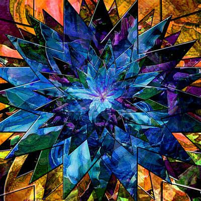 Digital Art - Blue Star Lily by Michele Avanti