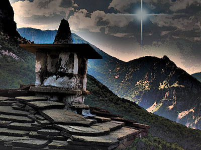 Photograph - Blue Star Over Mountains by Augusta Stylianou
