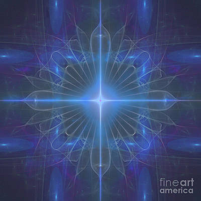 Digital Art - Blue Star by Ursula Freer