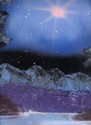 Painting - Blue Stars Night by Marc Chambers