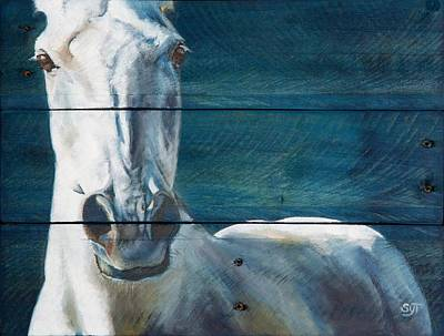 Sterling Silver Painting - Blue Sterling by Shaila Yovan Tenorio