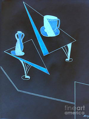 Drawing - Blue Still Life by Bill OConnor