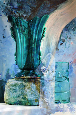 Blue Still Life Flow Art Print by John Fish
