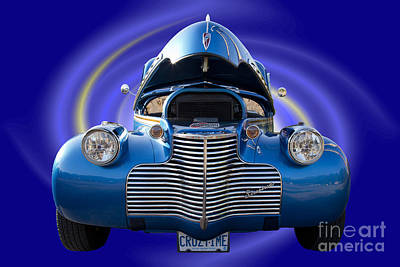 Photograph - Blue Streetrod by Nick Jene